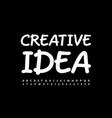 artistic sign creative idea white alphabet set vector image