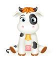 balittle cow 3d cute calf toy cub cartoon vector image vector image