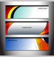 banner curve design vector image