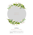 bashower greeting card with floral frame vector image vector image