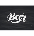 Beer label Hand lettering vector image vector image