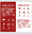 blood donor flyer design template vector image