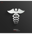 Caduceus Medical Symbol- white app icon vector image vector image
