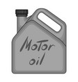 can of engine oilcar single icon in monochrome vector image