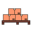 carton boxes with purchases delivering product vector image