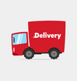 cartoon delivery truck vector image vector image