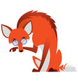 cartoon fox with glasses vector image