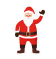 cartoon santa claus welcoming with hello vector image