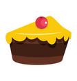 cartoon tasty cake isolated on white background vector image