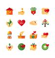 Charity Symbols Flat Icons Set vector image