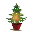 Christmas tree of decorated vector image