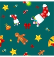 Christmass seamless pattern gingerbread man vector image