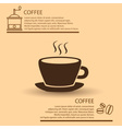coffee cup simple brown infographics theme eps10 vector image