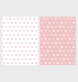 cute abstract pink star patterns vector image