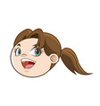 cute face girl child laughing funny image vector image