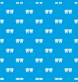 Dental brace pattern seamless blue vector image