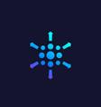 distribution process icon vector image