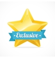 Exclusive star label vector image vector image