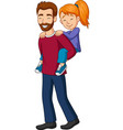 father giving his little girl piggyback ride vector image vector image