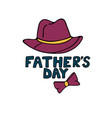 fathers day greeting card in doodle style man s vector image vector image