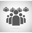 Flat Group of People Icon Symbol Background vector image vector image