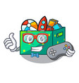 gamer kids toys in the cartoon box vector image
