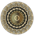 gold floral round mandala pattern luxury arabic vector image vector image
