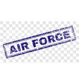 grunge air force rectangle stamp vector image vector image