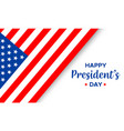 happy presidents day handwritten text with flag vector image