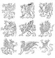 heraldic monsters vol v vector image vector image