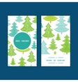 holiday christmas trees vertical round vector image vector image