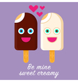 Ice Cream Valentine vector image