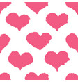 ink brush drawn heart pattern vector image vector image
