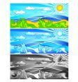 landscape colour vector image vector image