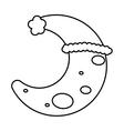 Moon icon Night design graphic vector image vector image