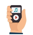 mp3 player music icon vector image