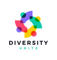 people family diversity colorful logo icon vector image vector image