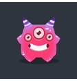 Pink Alien With Horns vector image vector image