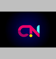pink blue alphabet letter cn c n combination for vector image
