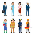 professions people cartoon characters icons set vector image vector image