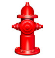 red hydrant vector image
