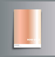 rose gold gradient cover background for banner vector image