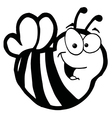 Royalty Free RF Clipart Cartoon Characters Bee vector image vector image