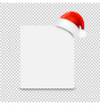 santa claus cap with banner transparent background vector image vector image