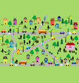 seamless background of countryside scene vector image vector image