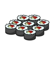 Serving of delicious seafood sushi vector image vector image