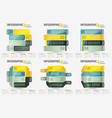 set abstract business four steps infographic vector image