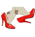Shoes Fashion and sensuality of womens clothing vector image vector image