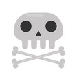small skull and crossed bones isolated cartoon vector image vector image