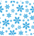 snow blue pattern vector image vector image